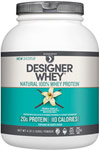 Whey Protein French Vanilla <p><b>From the Manufacturer's Label:</b></p> <p>Whey Protein is manufactured by Designer Whey.</p> <p>Available in French Vanilla and Strawberry flavors.</p> 4 lbs Powder  $42.99