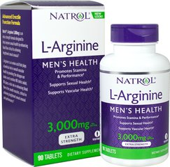 L-Arginine 3000 Mg <p><strong>From the Manufacturer's Label:</strong></p><p>L-Arginine 3000 Mg is manufactured by Natrol.</p> 90 Tablets 3000 mg $9.49