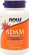 Adam™ Superior Men's Multi <p><b>From the Manufacturer's Label:</b></p> <p>Superior Men's Multi</p> With Saw Palmetto, Lycopene, Lutein, CoQ10, ZMA® & Ginkgo Biloba</p> <p>Vegetarian Formula</p> <p>Manufactured by NOW® Foods.</p> 90 Vegi Caps  $19.49