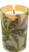 Plumeria Blossom Luminary Candle <p>Maroma Luminary transforms candlelight into a medley of fire color and aromatics. </p><p>This green-light Luminary is made from 100 renewable resource farmed palm wax. </p><p>24 hours of clean burn time with no smoke soot petroleum based residue. </p><p>The empty Luminary can be used again by dropping a votive candle or tea light inside. </p><p><strong>Contains essential oils of vanilla,tuberose, olib