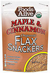 Maple & Cinnamon Organic Flax Crackers