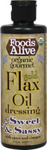 Organic Gold Flax Oil Dressing - Meg's Sweet & Sassy