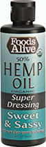 Organic Hemp Oil Dressing- Meg's Sweet & Sassy