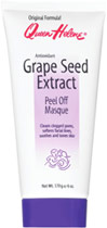 Queen Helene Grape Seed Extract Peel Off Masque <p><strong>From the Manufacturer's Label: </strong></p><p>Cleans clogged pores</p><p>Softens facial lines</p><p>Soothes and tones skin</p><p>Within minutes of application, Grape Seed Masque dries to a peelable film that lifts and draws out impurities from the pores. After the peel, the masque will reveal cleaner, revitalized younger looking skin.</p><p>Manufactured by