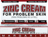 Margarite Cosmetics Zinc Cream <p><strong>From the Manufacturer's Label: </strong></p><p>Tinted Cream</p><p>For Problem Skin</p><p>Maximum Strength Mineral Formula</p><p>Manufactured by  Margarite Cosmetics.</p> 1 oz Cream  $7.99