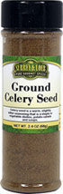 Ground Celery Seed Ground celery, like celery seed, has the taste and smell of celery stalks, but its flavor is much more pronounced. Use anywhere you would seeds, but in half the quantity, as ground celery is much stronger.<br><br>This value-size bottle is an excellent way to get the most for your money.<br><br>Cuisine:  Japanese 1.5 oz Ground  $4.24