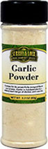 Garlic Powder <b><p> From the Manufacturer:</b></p>Famous for its powerfully pungent flavor and aroma, Garlic is fundamental to a widespread range of dishes and cuisines. Aside from its history of repelling vampires, Garlic is renowned for its amazing and unmistakable taste and aroma. Garlic is considered among the most universal of all the spices, and Garlic Powder is gaining popularity for its sheer convenience – keeping it on hand saves the valuable prep time of peelin