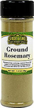 Ground Rosemary <p>The Italians often use this pungent and piney herb to flavor meats and tomato sauces.  Apply to meats before roasting or grilling. Delectable in potatoes, roasts, stews, vegetables, lamb or poultry dishes, sauces for fish, or tossed in fruit salads. Soak rosemary with your wood chips when smoking chicken, turkey, or pork roasts.</p><p>Cuisine: Spanish, Italian, Middle East & Eastern Mediterranean</p> 1 oz Ground
