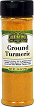 Turmeric <b><p> From the Manufacturer:</b></p><p>Our all-natural Turmeric contains curcumin, which gives it its radiant yellow color. It is famous for its bright golden hue and has long been considered an Asian good luck charm. As a member of the ginger family, Turmeric is a primary ingredient of curry as well as other Middle Eastern dishes. It is used in many dishes in India for its healthful qualities. Turmeric is best when used sparingly, as too much of it may tu