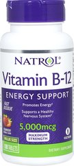 Vitamin B-12 5000 mcg Fast Dissolve <p><strong>From The Manufacturers Label:</strong></p><p><strong></strong></p><p>Natrol Vitamin B-12 Fast Dissolve delivers high potency energy support in a delicious, mixed berry tablet.  This fast-dissolve formula delivers unique, rapid dissolve technology that helps promote fast absorption.</p><p>Manufactured by Natrol</p><p></p> 30 Tablets 5000 mcg