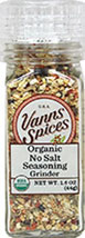 Organic No Salt Seasoning Grinder <B>From The Manufacturers Label:</B> <P>Grind just before using for optimum freshness.  A general all-purpose seasoning adding flavor without salt.  No Preservatives, No Irradiation.</P>  1.6 oz Grinder  $11.04