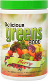Delicious Greens 8000 Berry <P><B>From the Manufacturer's label</B></P><P>We are proud to bring you Delicious Greens 8000 Berry Flavor from Greens World Inc. Look to Puritan's Pride for high-quality national brands and great nutrition at the best possible prices</P>  10.6 oz Powder  $25.99