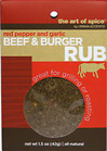 Beef & Burger Rub <B>From the Manufacturer's Label:</B> <P>Black mustard, garlic and crushed red pepper are combined with other spices for this savory and spicy Beef & Burger Rub.  Great for grilling or roasting.</P>  0.75 oz Rub  $2.99