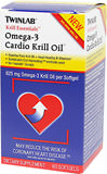 Krill Essentials™ Omega-3 Cardio Krill Oil 625 mg <p><strong>From the Manufacturer's Label: </strong></p><p>Each softgel of Twinlab's Omega-3 Cardio Krill Oil contains 625 mg of highly beneficial, 100% pure Superba Krill Oil with a unique phospholipid.**</p><p>In addition to this cutting edge Omega-3 ingredient, Omega-3 Cardio Krill Oil is unique because it contains Vitamin B6, B12 and folic acid to further help support a healthy heart. ** Superb