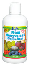 NONI, MANGOSTEEN, GOJI & ACAI BLEND -32 oz.-Liquid