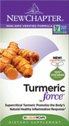 Turmeric Force <p><strong>From the Manufacturer's Label: </strong></p><p>Dual Extracted Turmeric</p><p>Researched for maintaining healthy inflammation response**</p><p>Traditionally used to promote liver health and purify the blood**</p><p>New Chapter® has been in love with Turmeric for decades.  We grow it on our organic farm in Costa Rica, which is nestled in the volcanic mountains adjoining the Children's Eternal R