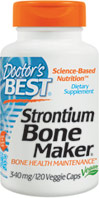 Strontium Bone Maker <p><b>From the Manufacturer's Label: </p></b><p>Strontium is a naturally occurring mineral present in water and food.**  Trace amounts of strontium are found in human skeleton.**  Strontium has an affinity for bone and is taken up at the bone matrix crystal surface.**  The influence of strontium on bone metabolism has been researched since the 1950's.**  Helps maintain strong, healthy bones.**  </p> 120 Vegi Caps 340 mg $19.99