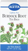 Burdock Root Tea <p><strong>From the Manufacturer's Label: </strong></p><p>This Caffeine Free Burdock tea has many benefits. Enjoy a delicious cup of tea any time, anywhere!<strong></strong></p> 24 Tea Bags  $3.29