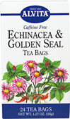 Echinacea & Goldenseal Tea <p><strong>From the Manufacturer:</strong></p><p>Caffeine Free</p><p>A perennial plant native to the United States, Echinacea (E.angustifolia & E.purpurea) was used by the Plains Indians more than any other plant.  Also known as purple cornflower or black sampson, Echinacea has been used extensively for its many health benefits.  Another plant highly revered by American Indians was the versatile Golden Seal (Hydrast