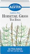 Horsetail Grass Tea <p><b>From the Manufacturer's Label: </p></b> <p>Caffeine Free</p><p>Horsetail has a high silica content. Silica, a vital element of health, is found in all tissues and organs of the body, including the skin, hair, nails, teeth, bones, tendons and ligaments.</p><p>Natural herb teas that are good for you and the environment.</p> 24 Tea Bags  $4.39