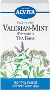"Valerian-Mint Tea <p><b>From the Manufacturer's Label: </p></b><p>Caffeine Free</p> <p>Used as a common remedy at the time of Hippocrates in the 4th and 5th centuries B.C., Valerian <i>(Valeriana officinalis)</i> is native to Europe and Asia.  Valerian derives its name from the Latin <i>valere</i>, ""to be strong,"" referring to both the health benefits of the plant and its distinct odor.  It is often used for its soot"