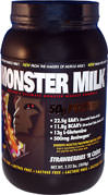 Monster Milk Strawberry <p><b>From the Manufacturer's Label: </p></b><p>22.5g EAA's (Essential Amino Acids)</p> <p>11.8g BCAA's (Branched Chain Amino Acids)</p> <p>13g L-Glutamine</p> <p>500 mg Aminogen®</p> <p>Naturally and Artificially Flavored</p>  <p>Lactose Free</p> <p>Manufactured by Cytosport.</p>   2.2 lbs Powder  $27.99