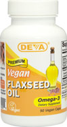 Organic Vegan Flaxseed Oil <p><b>From the Manufacturer's Label: </p></b><p>Organic</p> <p>Unrefined</p> <p>Cold-pressed</p> <p>Omega-3</p> <p>We are proud to bring you Vegan Flaxseed Oil from Deva Vegan Vitamins. Look to Puritan's Pride for high-quality products and great nutrition at the best possible prices.</p> 90 Vegi Caps  $6.99