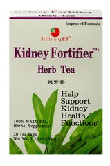 Kidney Fortifier Tea <p><strong>From the Manufacturer's Label: </strong></p><p>Diuretic, strengthen the kidney</p><p>Kidney Fortifier™ Herb Tea is made of wild pyrrosia and alisma with other precious herbs. They provide alisol A and B, â-sitosterol, saponin, flavonoid, biotin, etc. Traditional Chinese medicine uses them as diuretic and to maintain healthy kidney functions.</p> 20 Tea Bags  $5.59