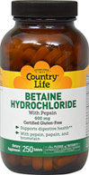 Betaine Hydrochloride with Pepsin