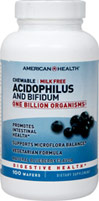 Acidophilus Chewable Blueberry Nutritionally supports healthy digestion**  Promotes a healthy intestinal balance** One billion Organisms at time of manufacture. 100 Chewables 1 billion $9.99