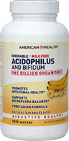 Acidophilus Chewable Banana <p>Nutritionally supports healthy digestion**</p> <p>Promotes a healthy intestinal balance**</p> <p>One billion Organisms at time of manufacture.</p> 100 Chewables 1 billion $9.99