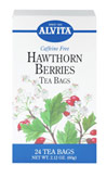 Hawthorn Berries Tea <p><strong>From the Manufacturer's Label: </strong></p><p>Caffeine Free</p><p>Hawthorn is a small thorny tree or shrub that produces brilliant red clusters of berries. Both ancient and modern herbalists have successfully used Hawthorn for its food and health benefits.**</p><p>Natural herb teas that are good for you and the environment.</p> 24 Tea Bags  $4.49