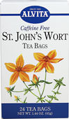 St. John's Wort Tea Caffeine Free <p><b>From the Manufacturer's Label:</b></p> <p>Caffeine Free</p> <p>St. John's Wort (Hypericum perforatum) has been used for more than 2000 years. The leaves and flowers of St. John's Wort contain special glands that release a red oil when pinched. Recommended in the first century by the naturalist Pliny and the physician Dioscorides, St. John's Wort has a long and varied history of use by the Romans