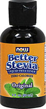 Better Stevia Liquid Extract <p><b>From the Manufacturer's Label:</b></p> <p>This natural herbal extract is intended for dietary supplement purposes only.  Stevis rebaudiana is a natural herb that grows in Asia and South America.</p>  <p>Manufactured by Now® Foods.</p> 2 oz Liquid  $6.99
