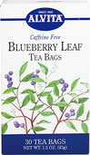 Blueberry Leaf Tea Caffeine Free <p><b>From the Manufacturer's Label:</b></p> <p>Caffeine Free</p> <p>An erect shrub with small pink or white flowers, Blueberry (Vaccinium myrtillus) is native to North America and is now harvested throughout Europe. It bears large, smooth-skinned berries that turn to a deep purple as they mature. Apart from their size and preferred sweet taste, the berries are distinguishable from other species of the same botanical