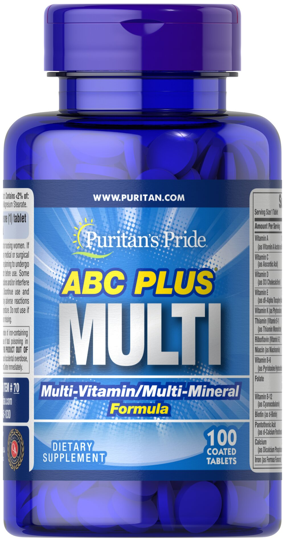 ABC Plus Multivitamin and Multi-Mineral Formula  100 Caplets  $12.99