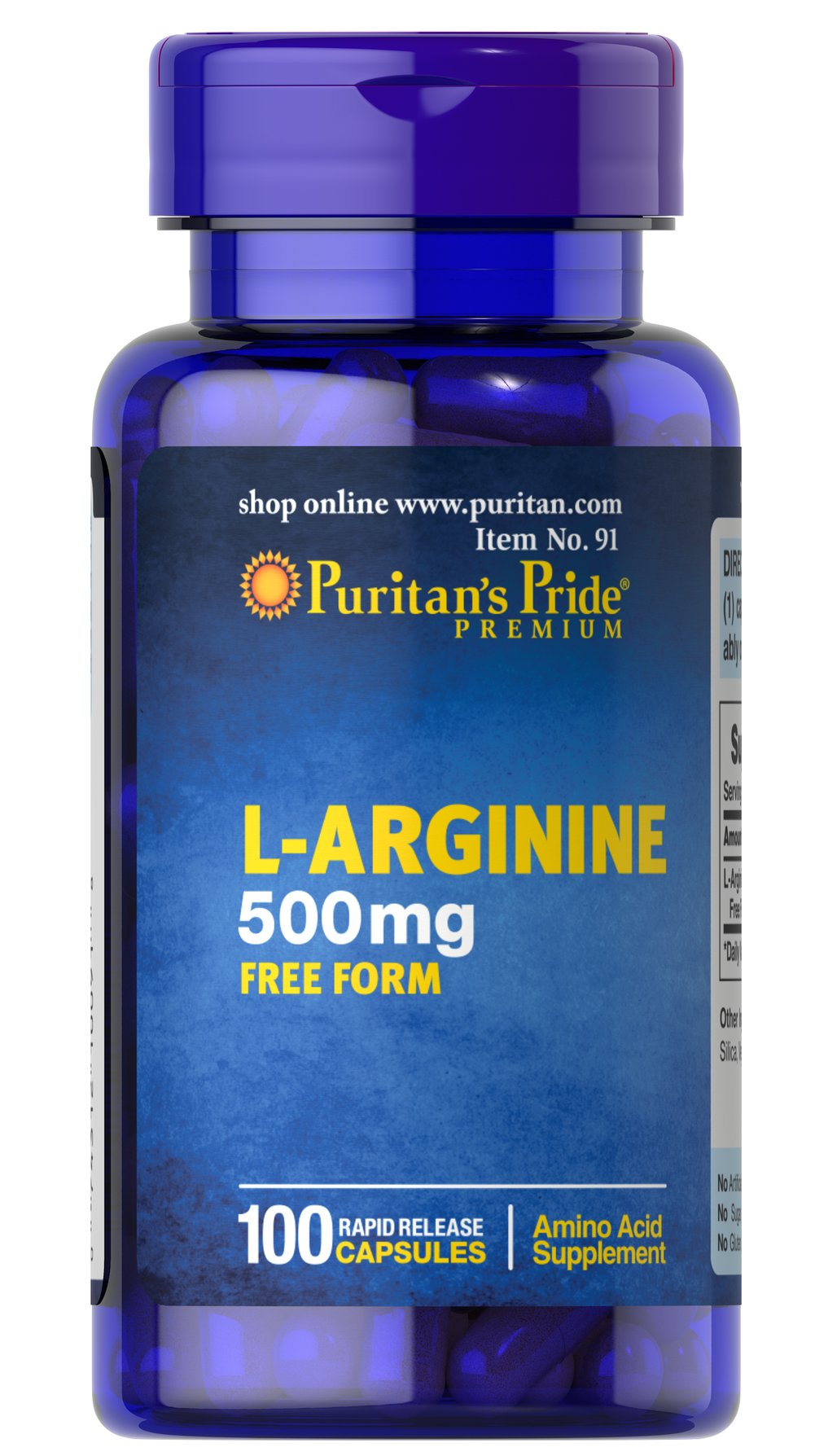 L-Arginine 500 mg <p>Arginine is one of 20 amino acids, the building blocks of protein.** Arginine can  serve as a source of energy, and is involved in various pathways throughout the body.** Arginine supports the effect of exercise and is one of the most important amino acids involved in immune function.** Adults can take one caplet daily. </p> 100 Capsules 500 mg $14.99