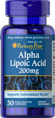 "Alpha Lipoic Acid 200 mg <p>Alpha Lipoic Acid (ALA) helps metabolize sugar, especially in muscles, where it promotes energy.**</p><p>ALA is also beneficial for liver health, and helps to revitalize the underlying structure of the skin so it can look healthier and more radiant.**</p><p> ALA is often called the ""universal antioxidant"" for its ability to help neutralize cell-damaging free radicals.** </p> 50 Capsules 200 mg $9.99"