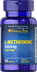 L-Methionine 500 mg  50 Tablets 500 mg $11.99