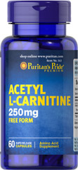 Acetyl L-Carnitine 250 mg <p>Acetyl L-Carnitine plays a role in the metabolism of food to energy.** Studies indicate that the combination of Alpha Lipoic Acid and Acetyl L-Carnitine helps promote metabolic functioning to fight against free radicals and oxidative stress.**</p>  60 Capsules 250 mg $8.99