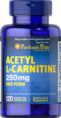 Acetyl L-Carnitine 250 mg <p>Acetyl L-Carnitine plays a role in the metabolism of food to energy.** Studies indicate that the combination of Alpha Lipoic Acid and Acetyl L-Carnitine helps promote metabolic functioning to fight against free radicals and oxidative stress.**</p>  120 Capsules 250 mg $19.59