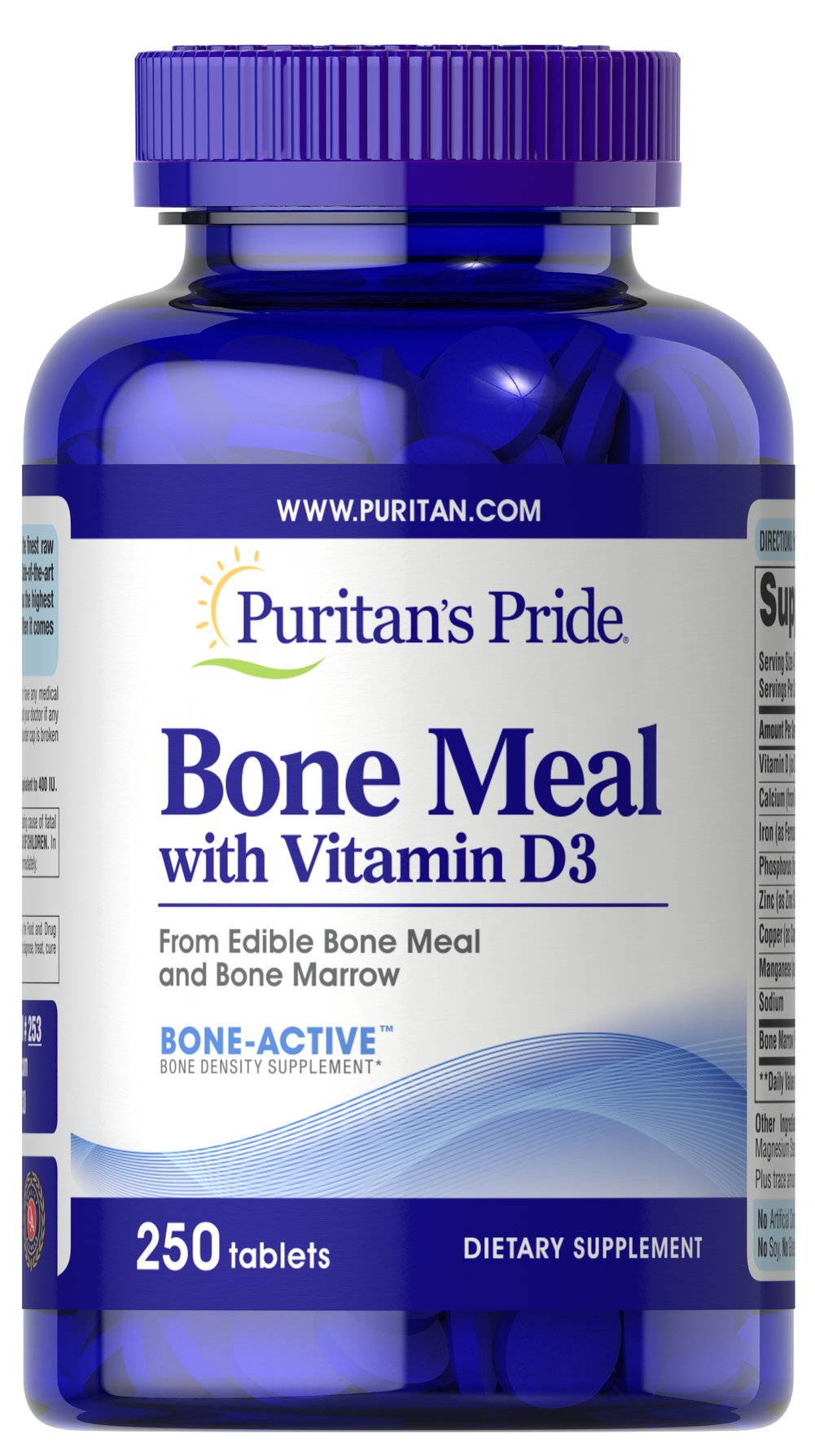 Bone Meal with Vitamin D <p>Supports Bone Health**</p><p>A natural source of calcium, phosphorus and trace minerals.  Fortified with natural Vitamin D.</p> 250 Tablets  $13.85