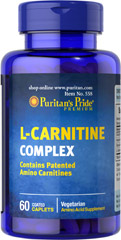 L-Carnitine Complex <p>Contains Patented Amino Carnitines</p><p>Vegetarian</p><p>Amino acid Supplement</p> 60 Caplets  $42.29