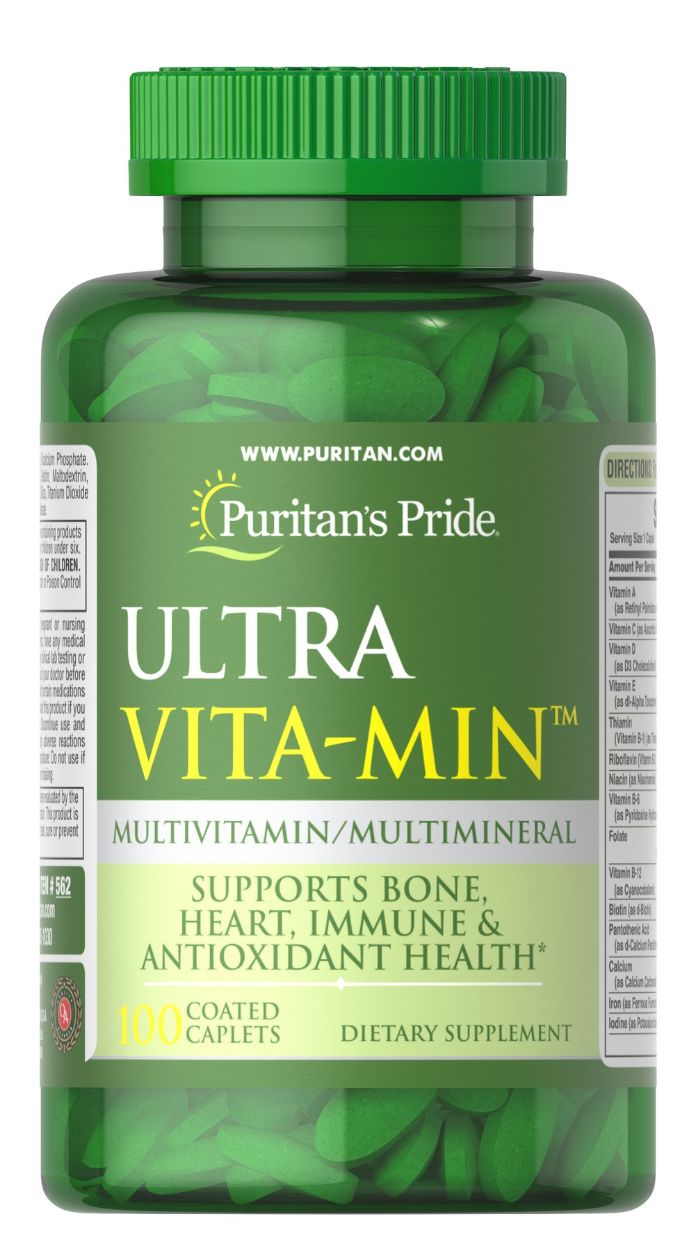 Ultra Vita-Min™ Multivitamin & Minerals VM-33 <p>A Super High Potency multivitamin ideal for men and women.  ULTRA VITA-MIN is a rich cornucopia of over 35 ingredients that help in areas of bone maintenance, energy metabolism, immune system support, and antioxidant health.**</p> 100 Caplets  $16.49