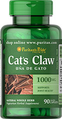 Cat's Claw 1000 mg <p>Cat's Claw  (Uncaria tomentosa) is a natural whole herb.  Supports Immune System Health** Supports Joint Health**</p><p>Available in (500 mg) Rapid Release Capsules.</p> 90 Caplets 1000 mg $15.99