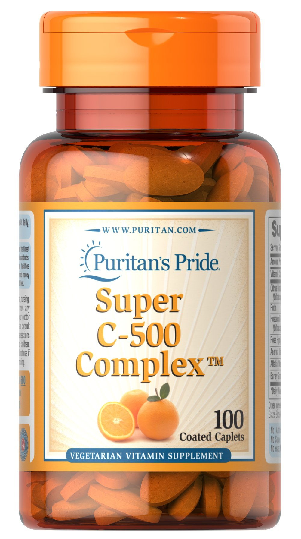 Vitamin C-500 Complex <p>Vitamin C  is essential to many functions in the body and is one of the leading vitamins for immune support.** Our C-complex includes potent Vitamin C as Ascorbic Acid. We also include Citrus Bioflavonoids, Rose Hips, Rutin, and Acerola.**</p><p>Offers superior antioxidant support.**</p><p>Supports healthy immune function and promotes well-being.**</p> 100 Coated Caplets 500 mg $10.99