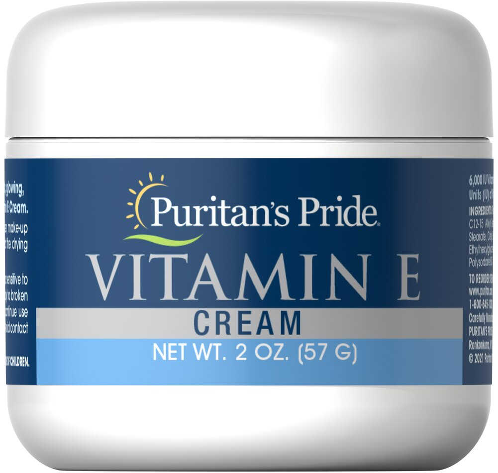Vitamin E Cream 6,000 IU <p>Nourish Dry Skin</p><p>Fragrance Free</p><p>Contains 6000 IU of Vitamin E per Jar</p><p>This marvelous exclusive formula pampers you with a wealth of natural moisturizers and emollients... and leaves absolutely no oily film on the skin.</p> 2 oz Cream 6000 IU