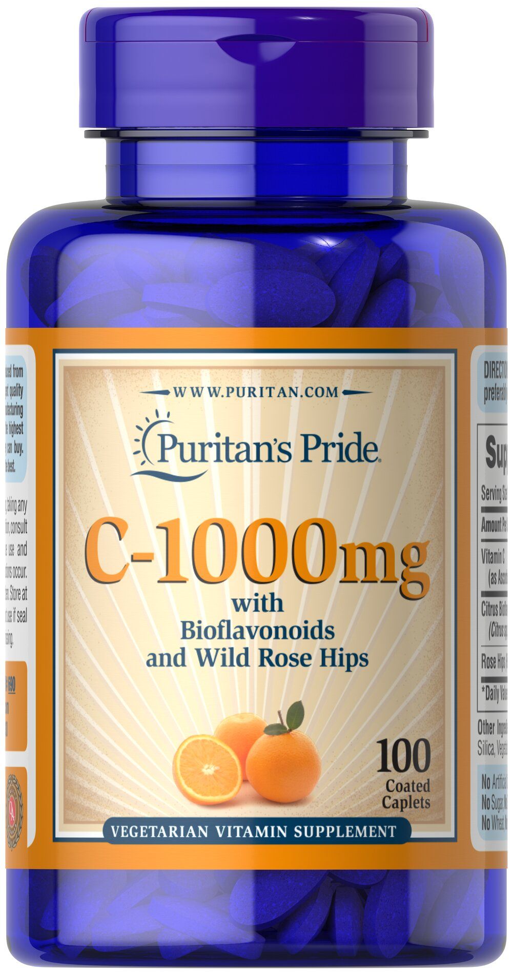Vitamin C-1000 mg with Bioflavonoids & Rose Hips  100 Caplets 1000 mg $10.99