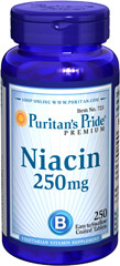 Niacin 250 mg <p>Supports Energy Metabolism and Nervous System Health** </p><p>Niacin is a B-Vitamin that is part of a coenzyme needed for energy metabolism.** Niacin helps maintain healthy functions of the nervous system and skin.**</p> 250 Tablets 250 mg $18.49