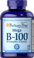 Vitamin B-100® Complex <p>The Vitamin B-100 Complex is made up of several vitamins that work well together to support nervous system health.** B Complex vitamins also promote energy metabolism.** Each nutrient in the B Complex performs a unique role in maintaining proper metabolic functioning and is essential for well being.**</p>  <p>This product delivers B-1, B-2, Niacin, B-6, Inositol, PABA, Pantothenic Acid and Choline, as well B-12, Biotin and Folic Acid.</p> 25